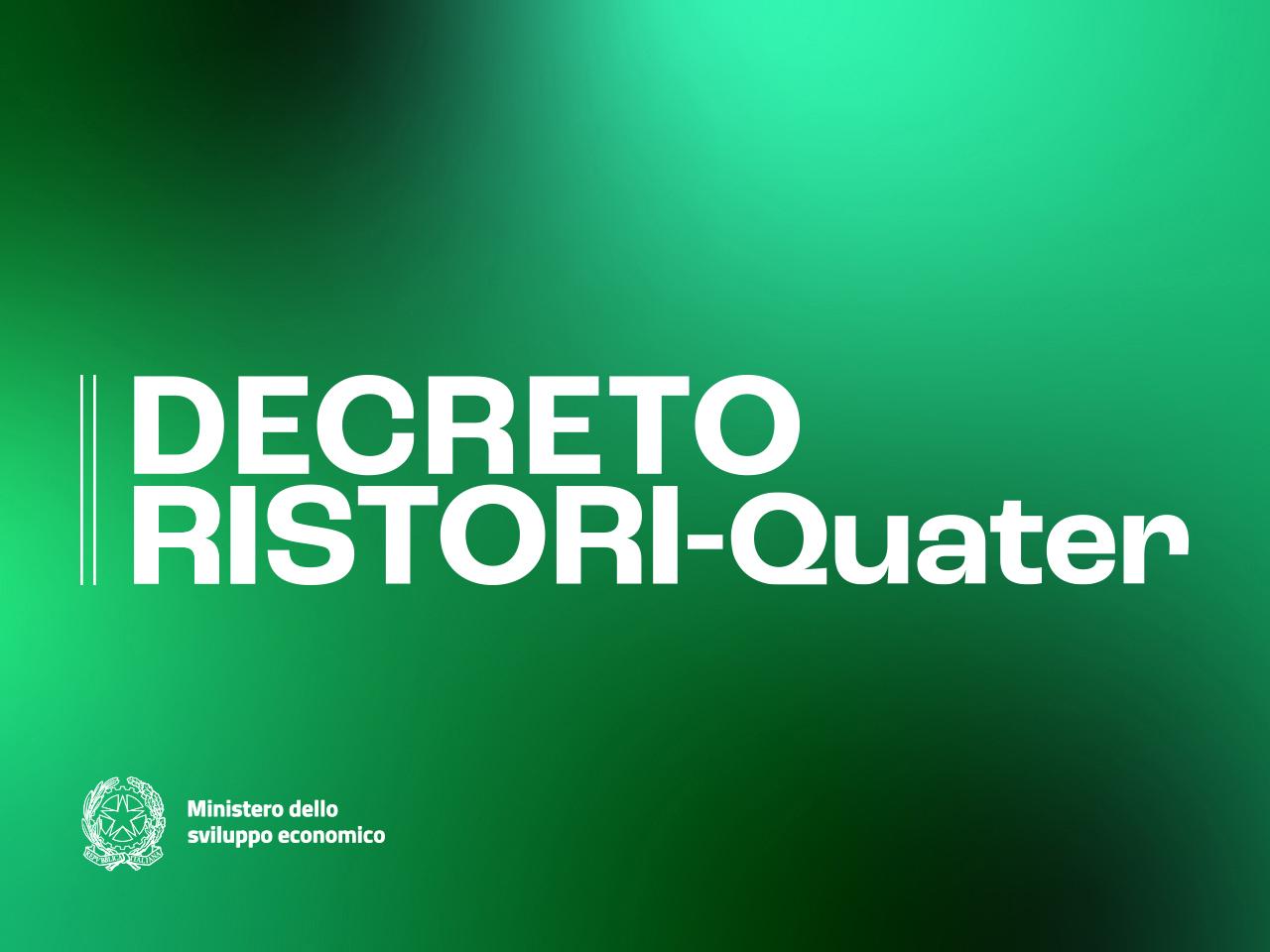 Decreto Ristori quater: le novità.